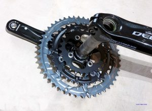 Shimano Deore triple chainset. Rear.