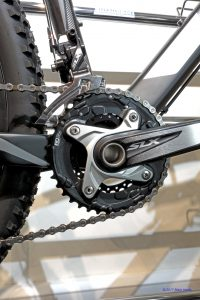 Shimano SLX 38-26t double chainset on a Kross carbon hard-tail mountain bike.